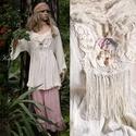 ANGYALTUNIKA XXL - iparművész lagenlook ruha, Ruha, divat, cipő, Képzőművészet, Női ruha, Textil, Ezt a kedvelt,romantikus-lagenlook fazonomat rusztikus  gézemből készítettem, nyers színében hagytam..., Meska