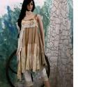 EMPÍR-kreáció, Ruha, divat, cipő, Kismamaruha, Női ruha, Ruha, Festett tárgyak, Varrás, Kézzel festett textilekből,csipkékből összeállított, empír-vonalú design-ruhám bohém Nőknek tervezt..., Meska
