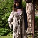 AVANTGARD lenkabát  -  lagenlook fashion design, Ruha, divat, cipő, Női ruha, Kabát, Aszimmetrikus, béleletlen nyári lenvászon-kabátka hűvösebb nyári napokra... Kényelmes nagy zsebbel, ..., Meska