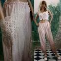 ROZITA - applikált nadrág, ÚJDONSÁG a romantikus lagenlook szerelmeseinek: ...