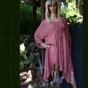 MALIBU lagenlook tunikaruha, Ruha, divat, cipő, Női ruha, Felsőrész, póló, Ruha, Lezser szabású, két oldalt hosszan lelógó  modellem  antik-rózsára festett változata. Elöl a bőséget..., Meska