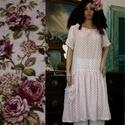 BABETTE - flapper-ruha , Ruha, divat, cipő, Képzőművészet, Női ruha, Textil, Különleges minőségű, finom, apró-mintás lenvászonból készült klasszikus lagenlook alapdarabom. Ezt a..., Meska