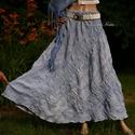 CSENGE szoknya - lagenlook fashion design, Ruha, divat, cipő, Női ruha, Szoknya, ÚJDONSÁG romantikusoknak!  Különleges, csíkokban kreppes lenvászonból terveztem ezt a hosszú, harang..., Meska