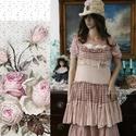 """HONORKA - baby-doll fashion design, Ruha, divat, cipő, Képzőművészet, Női ruha, Textil, Kockás ,puha gyűrt zefir és rózsaszínű krepp-géz """"házasságából"""" született bájos modellemet a kismére..., Meska"""