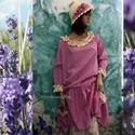 KAMILLA flapper-ruha - Lolita style fashion design, Ruha, divat, cipő, Női ruha, Ruha, Nadrág, Az 1920-as flapper-ruhák ihlette, nyomott-mintás pamutvásznakból  készült klasszikus ruháim új darab..., Meska