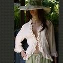 ILCSI - géz-kabátka  - Lolita style fashion design, Ruha, divat, cipő, Képzőművészet, Női ruha, Textil, Romantikus,fodros-végződésű, elöl-kötős rusztikus nyers-géz kabátka.    Kötényruháim, nadrágjaim stí..., Meska