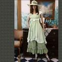 OPHELIE - princessz-ruha - lagenlook lolita style fashion design, Ruha, divat, cipő, Képzőművészet, Női ruha, Textil, Rusztikusan szőtt, fehér 100% lenvászonból festem ezt a kedvelt modellem.  Íveltre szabott alját fod..., Meska