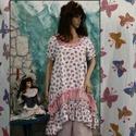 ANITA - dolly-ruha  - romantic lagenlook fashion design, Ruha, divat, cipő, Női ruha, Ruha, Kislányosan-bájos modellem romantikus Nőknek ajánlom:  Különlegesen finom, lepke-mintás pamut-puplin..., Meska