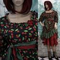 """MIGNON - meggyes szett - goth lolita  fashion design, Ruha, divat, cipő, Képzőművészet, Női ruha, Textil, Varrás, """"Kisasszonyos"""" bájos princessz-szabású ruháim mintás pamut-kartonokból készülnek. Jellemzőik: ívelt..., Meska"""