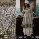 MIGNON ruha / virágocskás - lagenlook lolita  fashion design, Ruha, divat, cipő, Képzőművészet, Női ruha, Textil, Bájos princessz-szabású ruháim mintás pamut-kartonokból készülnek. Jellemzőik: ívelt, fodros alja-vé..., Meska