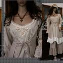MIGNON ruha / Mokka  -  lagenlook lolita  fashion design, Ruha, divat, cipő, Képzőművészet, Női ruha, Textil, Bájos princessz-szabású ruháim mintás pamut-kartonokból készülnek. Jellemzőik: ívelt, fodros alja-vé..., Meska