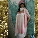 HAJNI tunika / ombre  - lagenlook fashion design, Képzőművészet, Ruha, divat, cipő, Textil, Női ruha, Finom, libbenő viszkóz-selyemből készült baby-doll tunika rózsaszín ombre kézi-festéssel, szegetlen ..., Meska