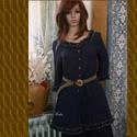 LÍVIA - szett - lagenlook fashion design, Ruha, divat, cipő, Női ruha, Ruha, Nadrág, Varrás, Középvastag, puha, 100% lenvászonból terveztem ezt a  sötétkék kétrészest. Jellemzői:  fa-hatású go..., Meska
