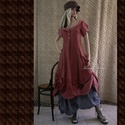 HANGA-ruha XL - romantic lagenlook fashion design, Ruha, divat, cipő, Képzőművészet, Női ruha, Textil, Puha, kézzel festett nyers flanelból készült princessz-szabású modellem a réteges öltözetek kedvelői..., Meska