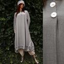FELICIA - trapéz-ruha  XXL , Ruha, divat, cipő, Női ruha, Ruha, Ezt az elegáns, hosszú ing-ruhát szép-esésű, hűvös tapintású, apró-pepita viszkóz-selyemből készítet..., Meska