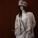 LAURA - lagenlook kabátka , Ruha, divat, cipő, Képzőművészet, Női ruha, Textil, Új-vonalú kiskabátom réteges öltözködéshez:  Bolyhos felületű, vastag pamutvászonból (barchend) kész..., Meska