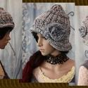 CLOCHE-ART kötött kalap, Ruha, divat, cipő, Női ruha, Kendő, sál, sapka, kesztyű, Sapka, Téli extravagancia:  EXTRA-VASTAG, többszálas - a szürke árnyalataiban készült - fonalmixből kötött ..., Meska