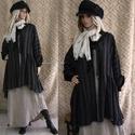 PAULA - lagenlook kabátka XXL, Ruha, divat, cipő, Női ruha, Kabát, Puha, csíkos lenszövetből készült, húzott, kardigán-kabátka. Béleletlen, gombolás nélküli, laza, nya..., Meska