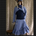 FRANCESCA - szett  - lolita styl fashion design, Ruha, divat, cipő, Női ruha, Szoknya, Kabát, Bolyhozott felületű pamutszövetből terveztem ezt a kétrészes modellemet: fodros lapszoknya fodros-sz..., Meska