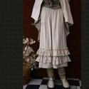 DESIREE - nadrágszoknya - lagenlook fashion design, Képzőművészet, Ruha, divat, cipő, Textil, Női ruha, Varrás, Puha, nyers, vastag barchendből terveztem ezt a darabot. (Az anyag a közismert düftinhez hasonlít.)..., Meska