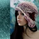 CLOCHE-ART / rózsakert  - kötött kalap, Téli extravagancia:  EXTRA-VASTAG, többszálas -...