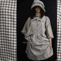 ANNIE lagenlook ingruha , Ruha, divat, cipő, Kismamaruha, Női ruha, Ruha, Jó tartású kék-fehér kockás -nehezebb fajta- pamutszövetből készült modellemet korhatár nélkül hordh..., Meska