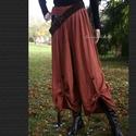VENEZIA - lagenlook nadrág XXL  , Ruha, divat, cipő, Női ruha, Nadrág, Különleges, szép esésű lenszövetből készült szoknyanadrágom. Egybeszabott bő fazon, elöl pánttal fel..., Meska