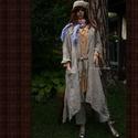 LAGENLOOK - hosszú lenkabátka , Ruha, divat, cipő, Női ruha, Kabát, Varrás, Könnyű, béleletlen lenvászon-kabátka a réteges öltözködéshez...  Ollós, lógó szélekkel, jobb oldalá..., Meska