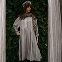 DORIS - lagenlook baby doll ruha , Puhított mosott lenvászonból terveztem ezt a kl...