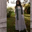 VICA -  lenvászon ruha - lagenlook fashion design, Ruha, divat, cipő, Női ruha, Ruha, Különleges textúrájú, két színből szőtt lenvászonból készítettem ezt az extra hosszúságú  ruhámat.  ..., Meska