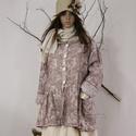 GRÁCIA -  lagenlook kabátka, Ruha, divat, cipő, Képzőművészet, Női ruha, Textil, Egy új modell a stílus kedvelőinek:  Jacquard mintás tiszta lenszövetből terveztem ezt a romantikus,..., Meska