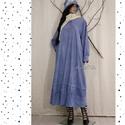 """TÉLI REGE - alpesi-kék """"Elma"""" ingruha  , Ruha, divat, cipő, Képzőművészet, Női ruha, Textil, Varázslatos téli kollekciómat a lagenlook stílus szerelmeseinek terveztem!  Sűrű szövésű, nyers kékf..., Meska"""