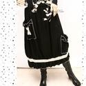 POLLY szoknya  - vintage fashion design, Ruha, divat, cipő, Női ruha, Szoknya, Ruha, Puha, szénfekete mosott lenvászonból készült A-vonalú szoknya kényelmes gumis derékkal, aszimmetriku..., Meska