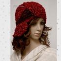 CLOCHE-ART kötött kalap, Téli extravagancia:  VASTAG, puha, többszálas: ...