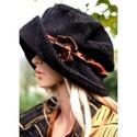 ANDERSEN - kézműves kalap, Kézzel festett elefántkordból készítettem ezt...