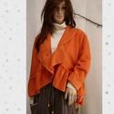 LAURA - polár-kabátka  LEFOGLALVA!, Puha, meleg, narancs színű polárból készült,...