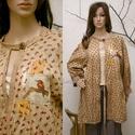 MÁMOR kabátka madárkával, Ruha, divat, cipő, Női ruha, Blúz, Új kollekciómat nyomott mintás pamutvásznakból terveztem a hangulatos lezserség jegyében. Bohém Nőkn..., Meska