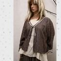 DONA kabátka, Lagenlook öltözetekhez: Puha, ezüstszálas csí...