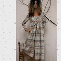 JASMIN - baby-doll ingruha, Ruha, divat, cipő, Női ruha, Ruha, Új modellemet különleges, kockás - hímzett középvastag puplinból készítettem. Hosszú-ujjú, elölkötős..., Meska