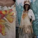 ORCHIDEA KISASSZONY - art to wear szett, Ruha, divat, cipő, Női ruha, Ruha, A látványos megjelenés kedvelőinek: Különleges kézzel festett, fodros-aljú tunika boleróval.  Mérete..., Meska