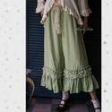 TARANTELLA  nadrágszoknya - lagenlook  lolita style art to wear, Ruha, divat, cipő, Képzőművészet, Női ruha, Textil, ÚJDONSÁG a romantikus lagenlook szerelmeseinek:  Lenge nyári vászon-nadrág bohém csipke és fodor-vég..., Meska