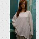 LÍNEA  len-géz ing XXL, Luxus-minőségű len-gézből készítettem ezt a...
