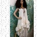 ANETT - lagenlook kötényruha  , Ruha, divat, cipő, Képzőművészet, Női ruha, Textil, Ez a nőies, dúsan fodros-aljú  ruha kényelmes és minden méretre csinos.  Évszaktól függően a réteges..., Meska