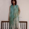 PIXY - nimfa-stóla : türkiz-zöld, Dekoratív, óriási méretű, rojtosra szabdalt-v...