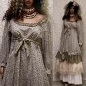 MIGNON - lolita ruha / virágocskás , Ruha, divat, cipő, Képzőművészet, Női ruha, Textil, Bájos princessz-szabású ruháim mintás pamut-kartonokból készülnek. Jellemzőik: ívelt, fodros alja-vé..., Meska