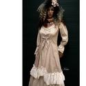 MIGNON - lolita ruha, Ruha, divat, cipő, Képzőművészet, Női ruha, Textil, Bájos princessz-szabású ruháim mintás pamut-kartonokból készülnek. Jellemzőik: ívelt, fodros alja-vé..., Meska