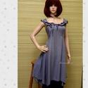 FELICIA - lolita-ruha XL , Ruha, divat, cipő, Női ruha, Ruha, Szép-esésű, hűvös tapintású, apró-pepita viszkóz-selyemből készült princessz-szabású modellem levend..., Meska