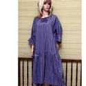 JOAN - flapper-ruha XXL, Ruha, divat, cipő, Női ruha, Ruha, Könnyű, finom, multi-color pamut-vászonból készítettem  ezt a lagenlook ingruhámat. Formáját a '20-a..., Meska