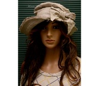 FLAMAND - lenvászon kalap , Ruha, divat, cipő, Női ruha, Kendő, sál, sapka, kesztyű, Sapka, Felhajtós elejű kalapom romantikus nőknek ajánlom.  Minőségi, 100% nyers lenvászonból készítettem. A..., Meska