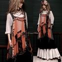 OLINKA - shabby chic design-ruha XL, Ruha, divat, cipő, Női ruha, Ruha, A művészi vintage stílus szerelmeseinek ajánlom e kollekcióm aprólékos munkával és sok-sok szeretett..., Meska